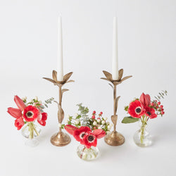 Winter Rose & Gold Leaf Decoration Set