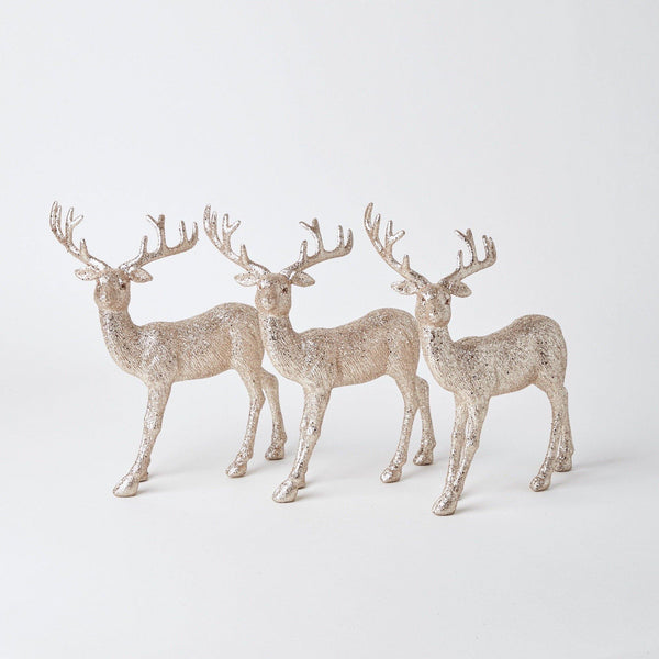 Large Gold Reindeer Trio