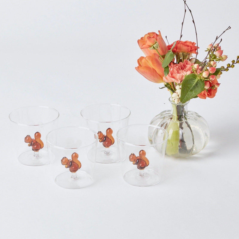 Squirrel Water Glasses & Jug Set