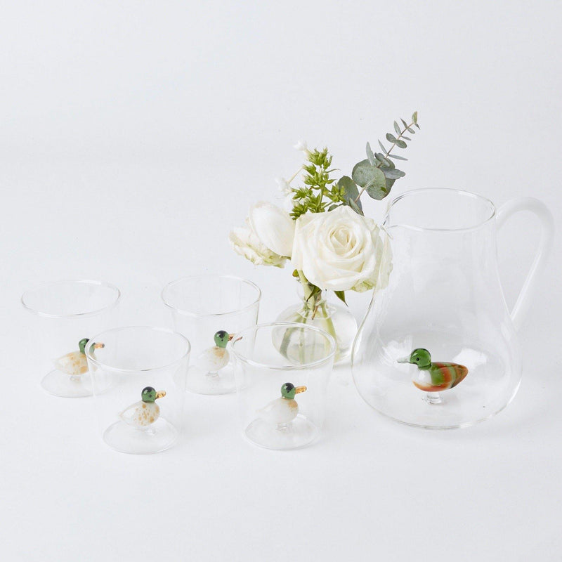 Mallard Glasses & Water Jug Set