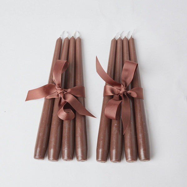 Chocolate Brown Candles (Set of 8)