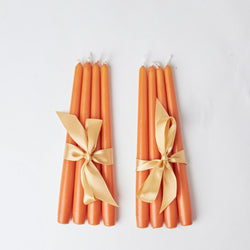Burnt Orange Candles (set of 8)