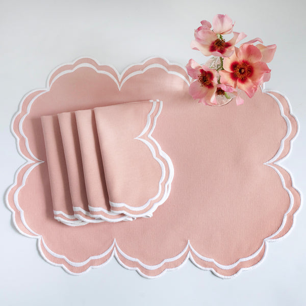 Serena Blush Pink Placemats (Set of 4)