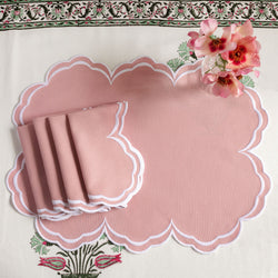 Serena Blush Pink Napkins (Set of 4)