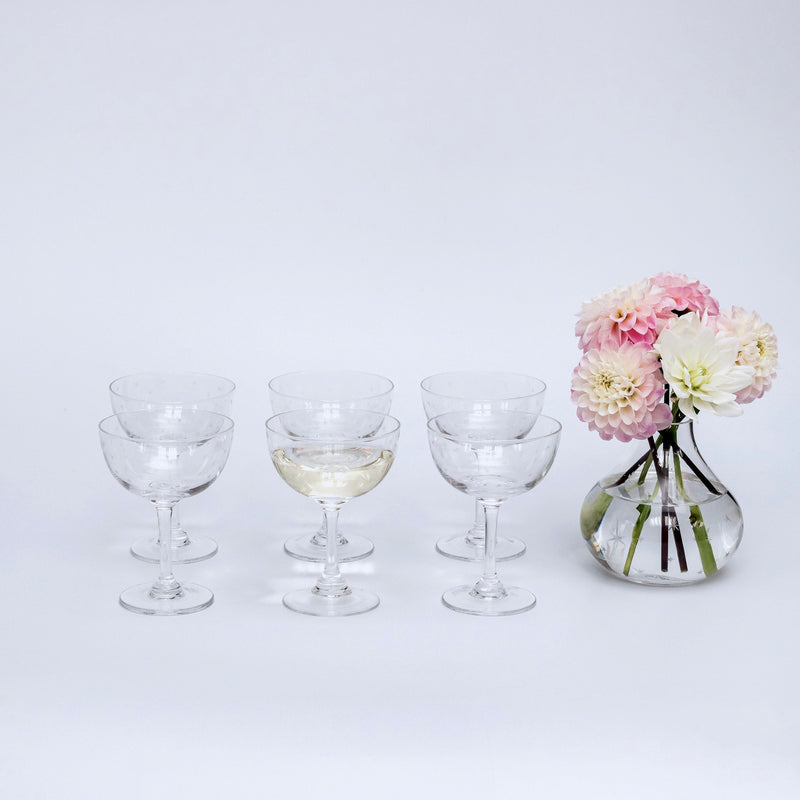 Poppy Prosecco Coupe (Set of 6)
