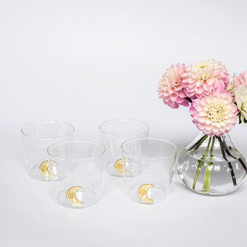 Poppy Star & Moon Glass (Set of 4)