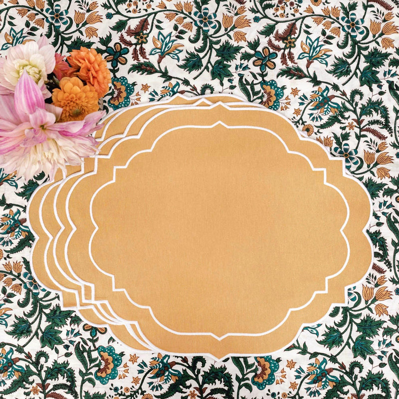 Poppy Mustard Placemats (Set of 4)