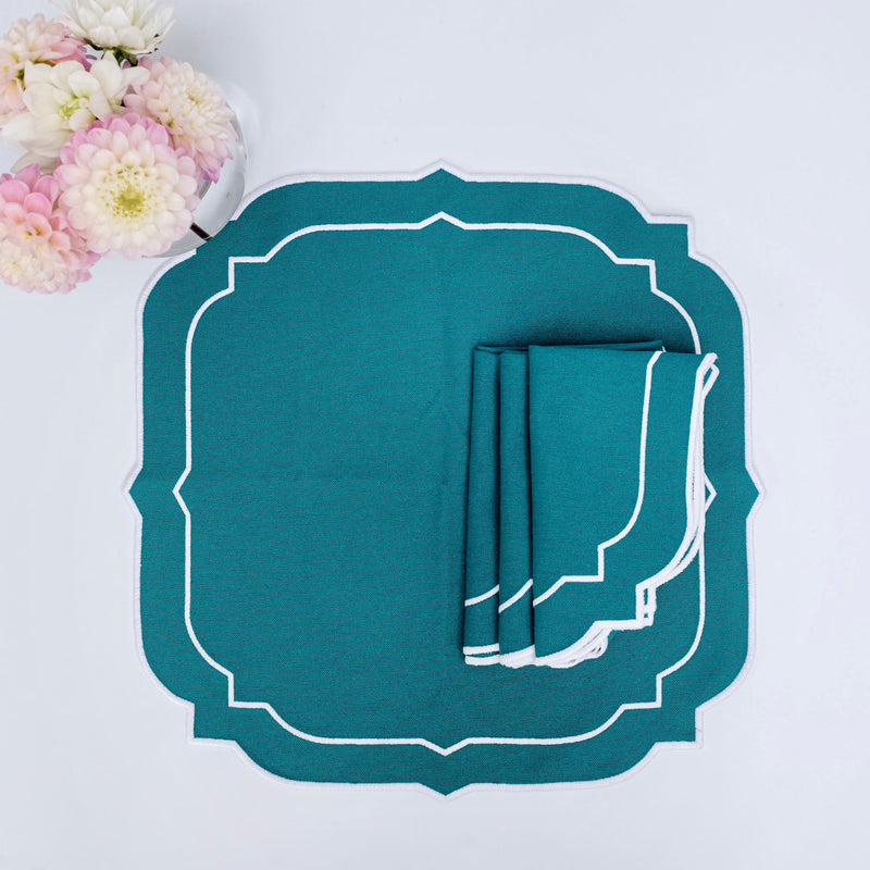 Poppy Teal Napkins (Set of 4)