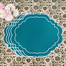 Poppy Teal Placemats (Set of 4)
