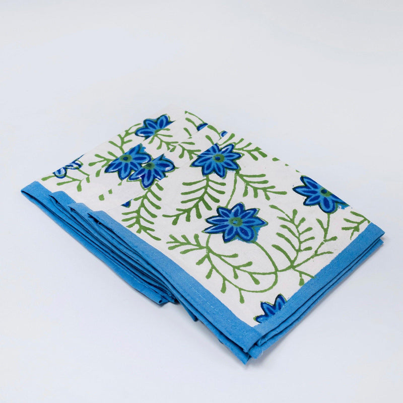 Blue Edge Water Lily Napkins (Set of 4)