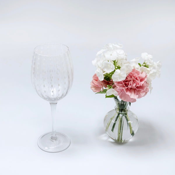White Speckle Wine Glasses (Set of 6)