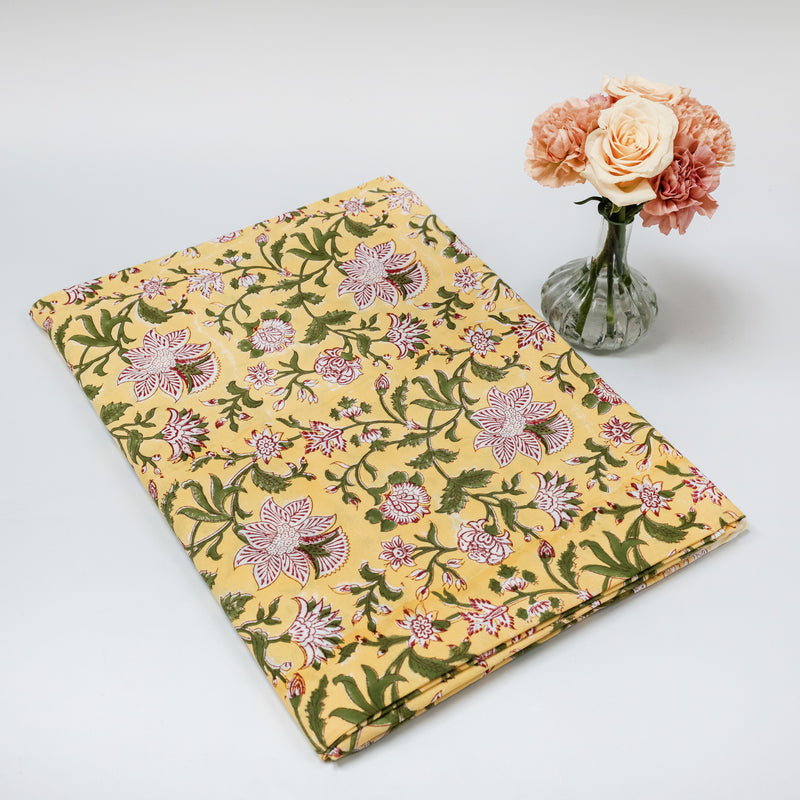 Yellow Lotus Flower Tablecloth