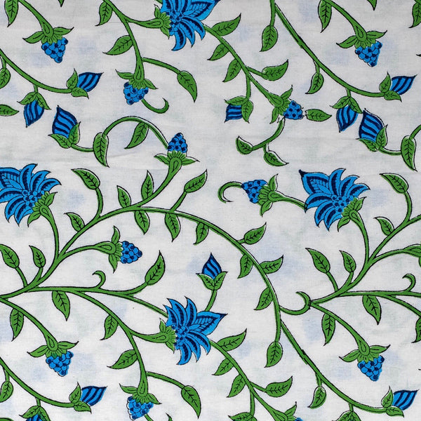 Green & Blue Bud Garden Tablecloth