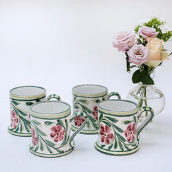 Hand Painted Rose Mug