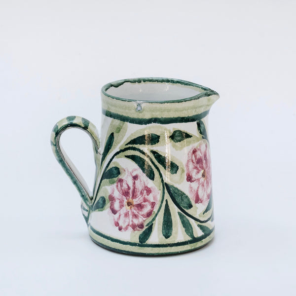 Hand Painted Rose Milk Jug
