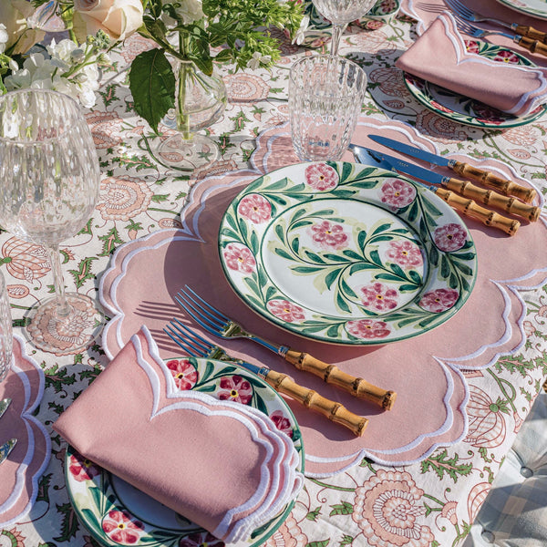 Hand Painted Rose Dinner Plate