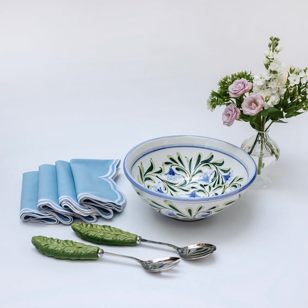 Hand Painted Bluebell Serving Bowl