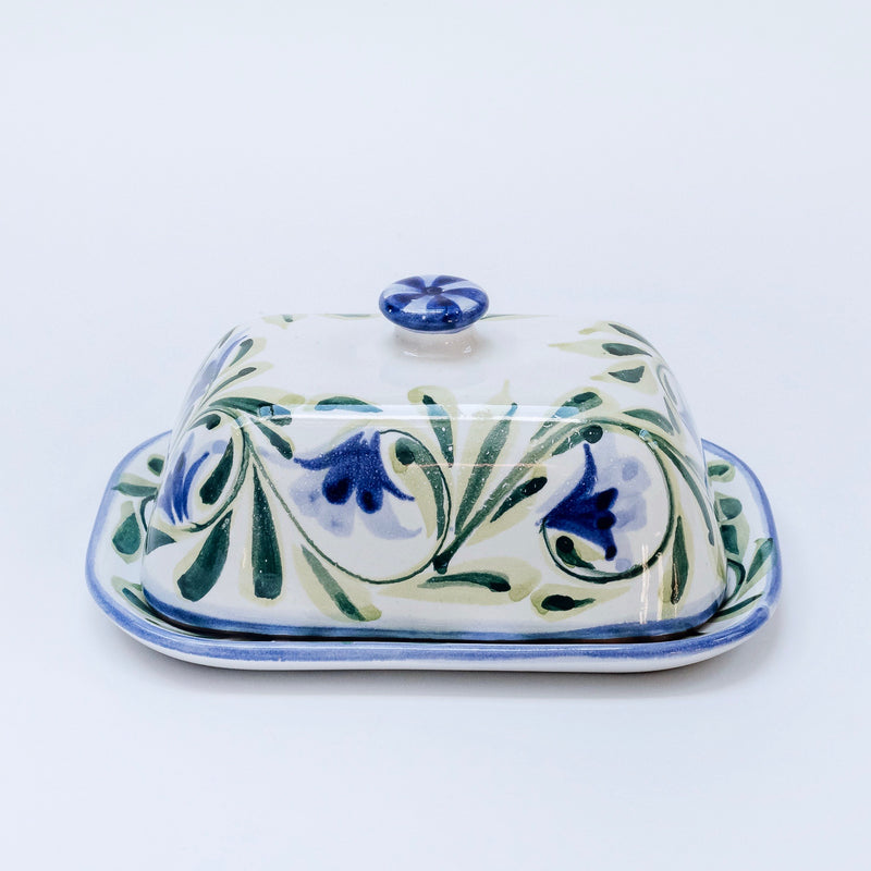 Hand Painted Bluebell Butter Dish