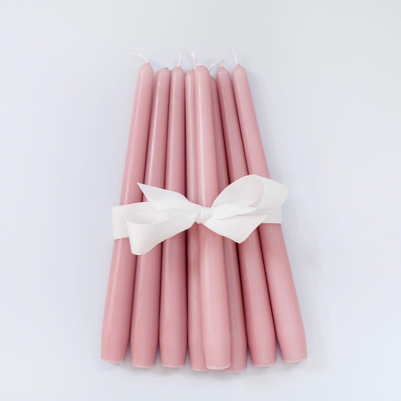Pink Candles (Set of 8)