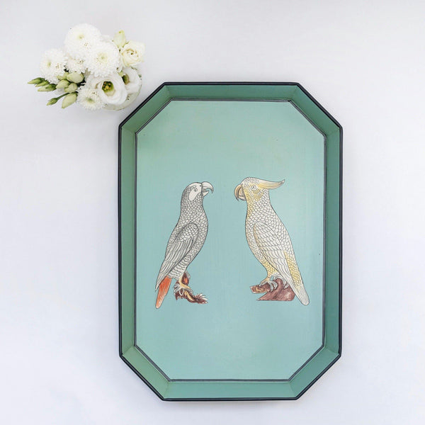 Hand Painted Parrot Tray