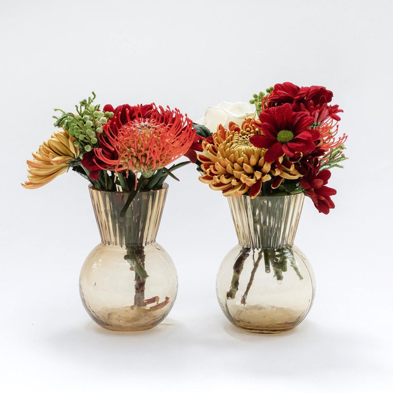 Amber Vase Decoration Set