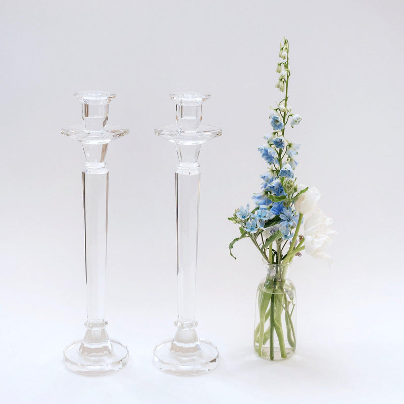 Tall Glass Candle Holders