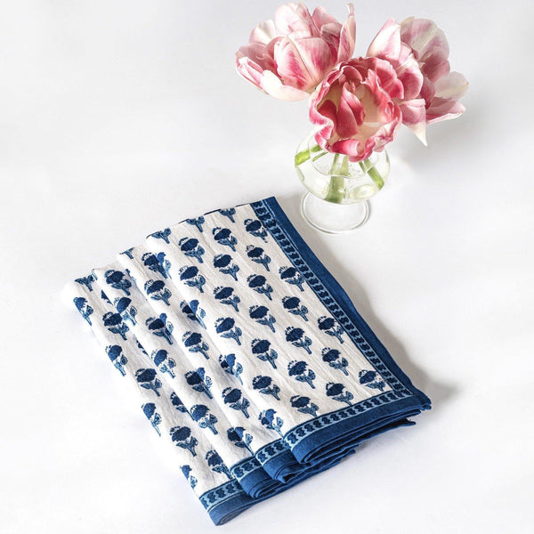 Blue Carnation Napkins (Set of 4)