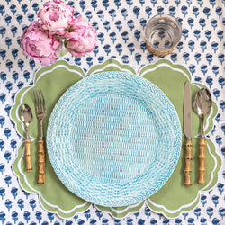Sky Blue Woven Charger Plate