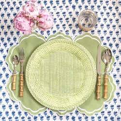 Apple Green Woven Charger Plate
