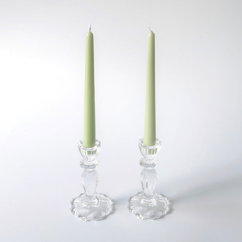 Tall Lace Edge Candle Holders (Pair)
