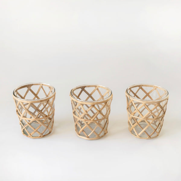 Raffia Bud Vases (Set of 3)