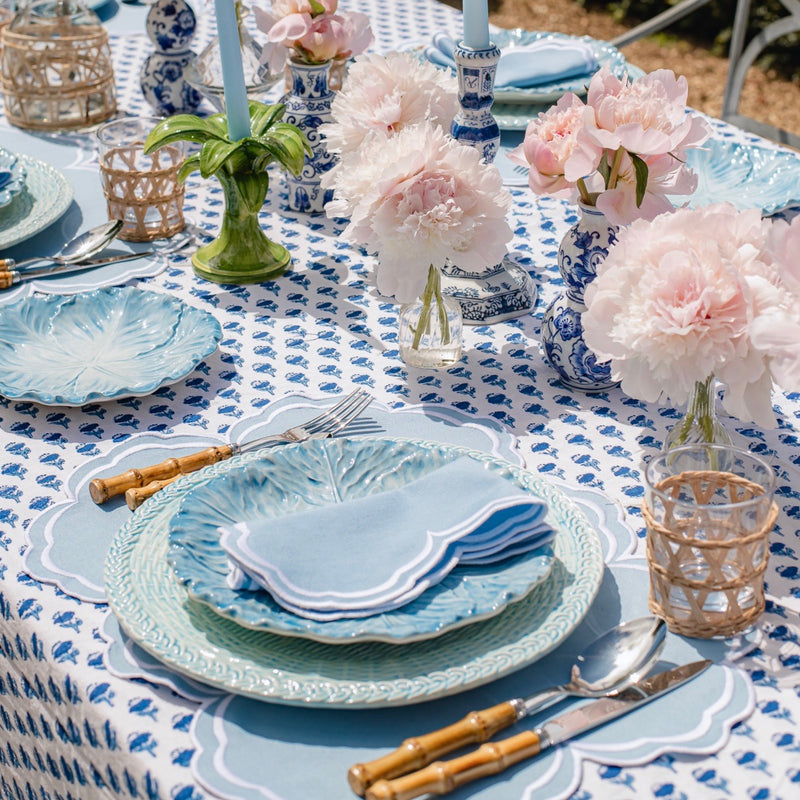 Serena Cornflower Blue Napkins & Placemats (Set of 4)