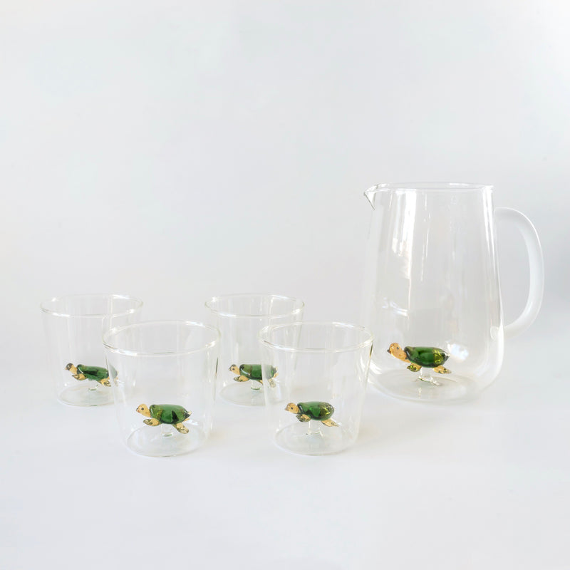 Turtle Water Glasses (Set of 4)