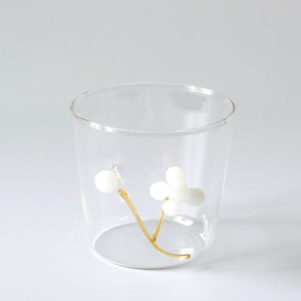 White Berry Water Glasses (Set of 4)