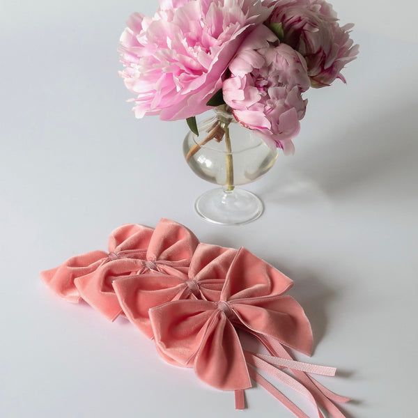 Pale Pink Napkin Ring Bows (Set of 4)