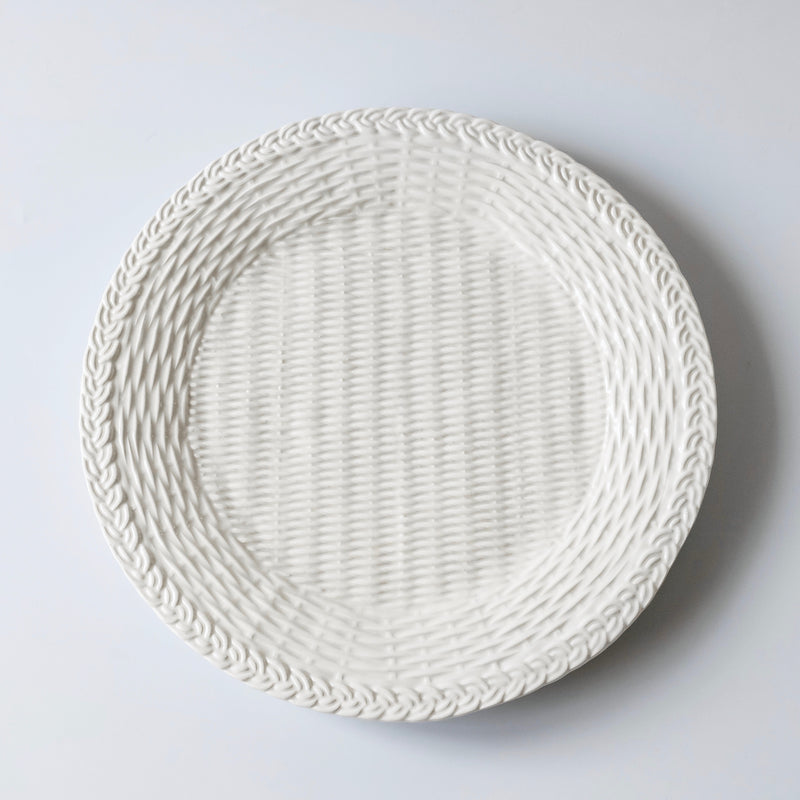 White Woven Charger Plate