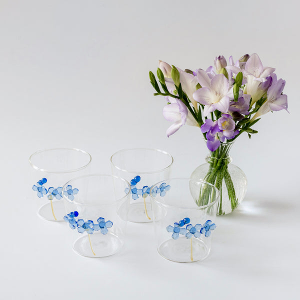 Forget-Me-Not Water Glasses (Set of 4)