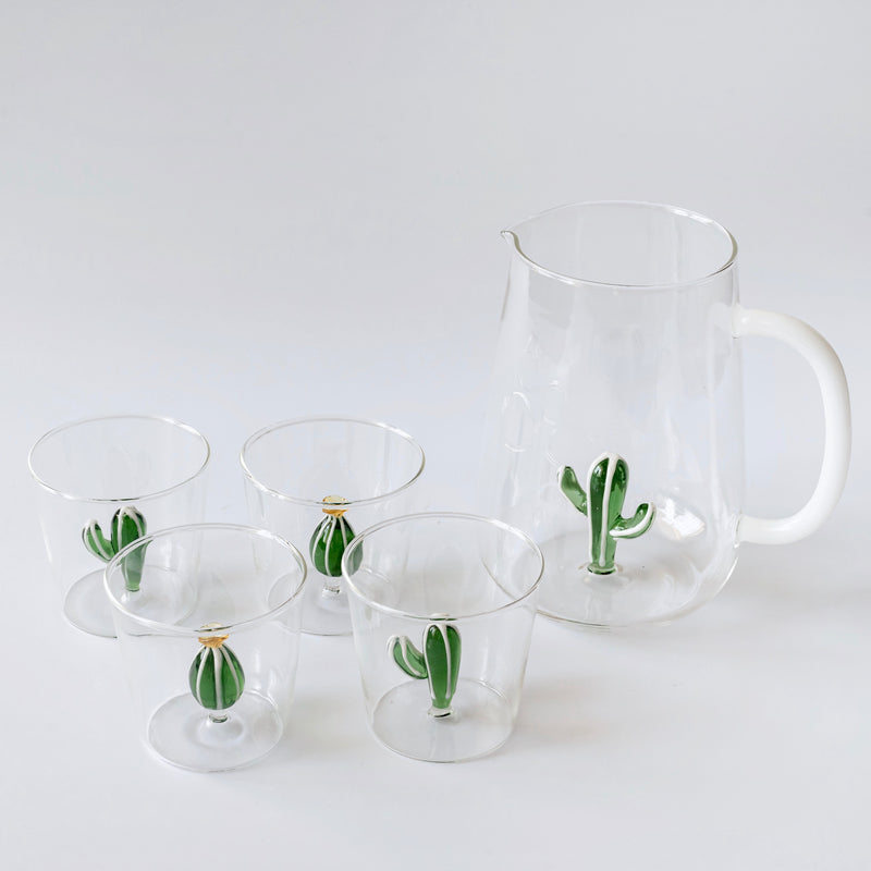 Cactus Water Glasses (Set 4)