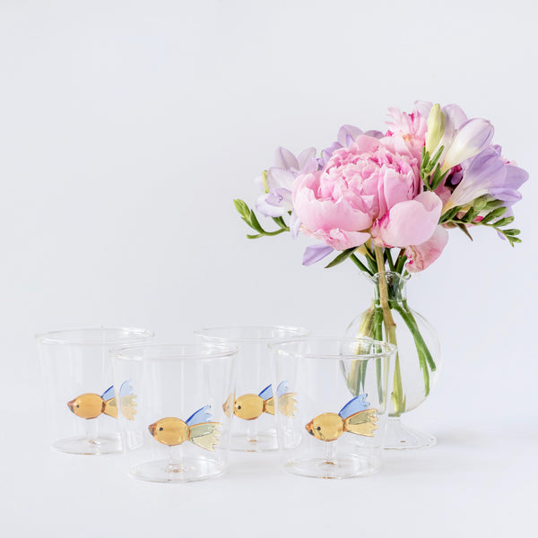 Damsel Fish Water Glasses (Set of 4)