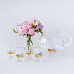 Damsel Fish Jug and Glasses (set of 4)