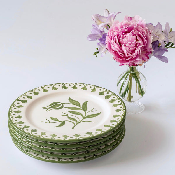 Seville Green Tulip Dinner Plate