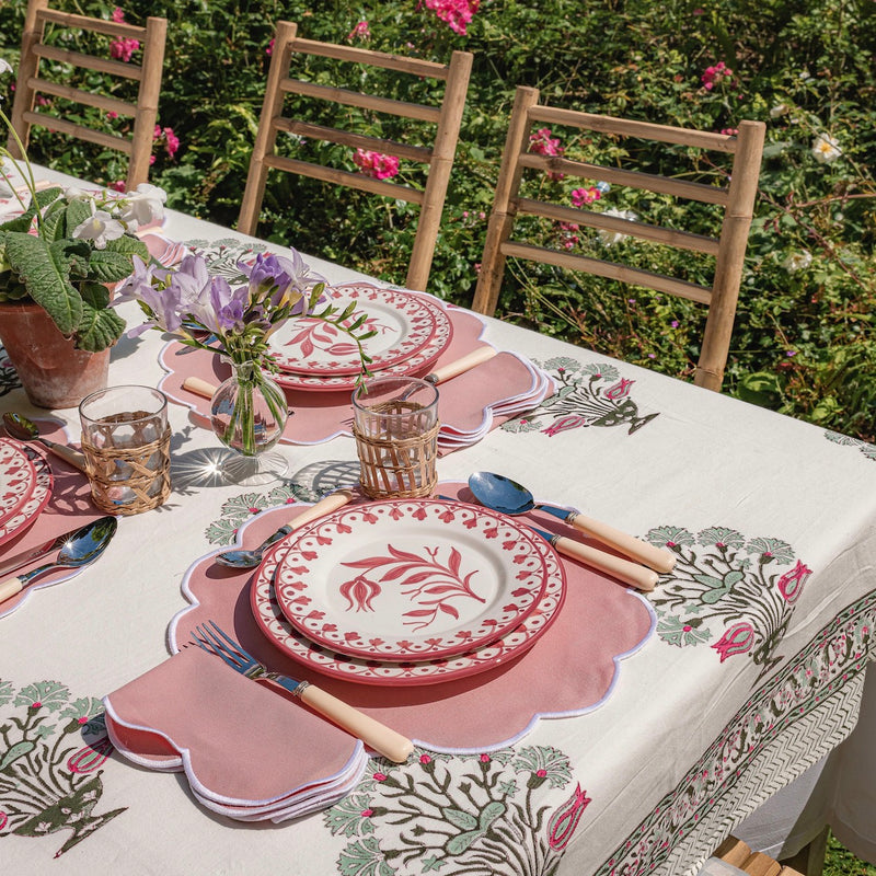 Green Carnation Tablecloth