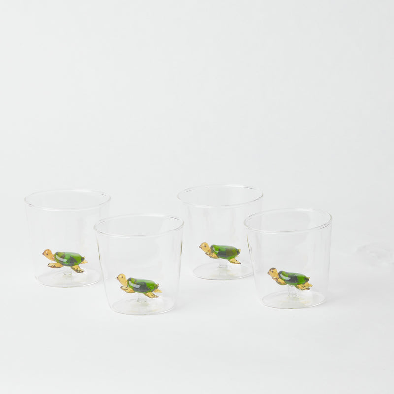 Turtle Jug and Glasses (Set of 4)
