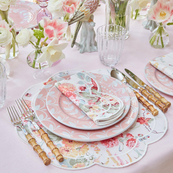 Sibyl Chintz Ivory Placemats & Napkins (Set of 4)