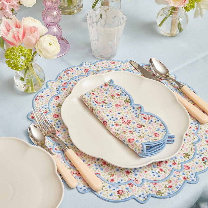 Dolly Ditsy Blue Placemats & Napkins (Set of 4)