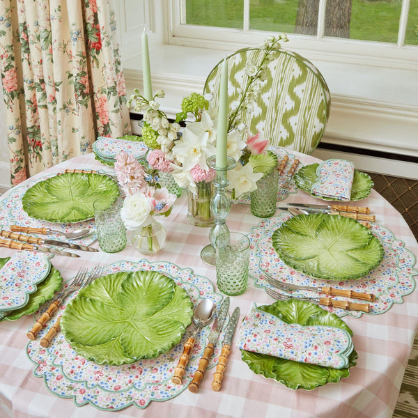 Dolly Ditsy Green Placemats & Napkins (Set of 4)