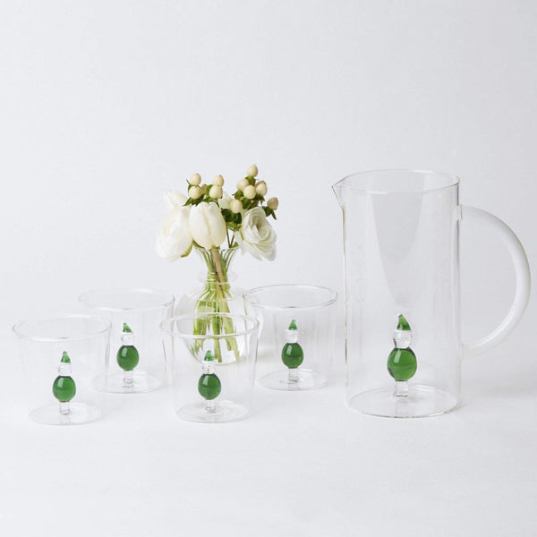 Father Christmas Water Glass & Jug Set