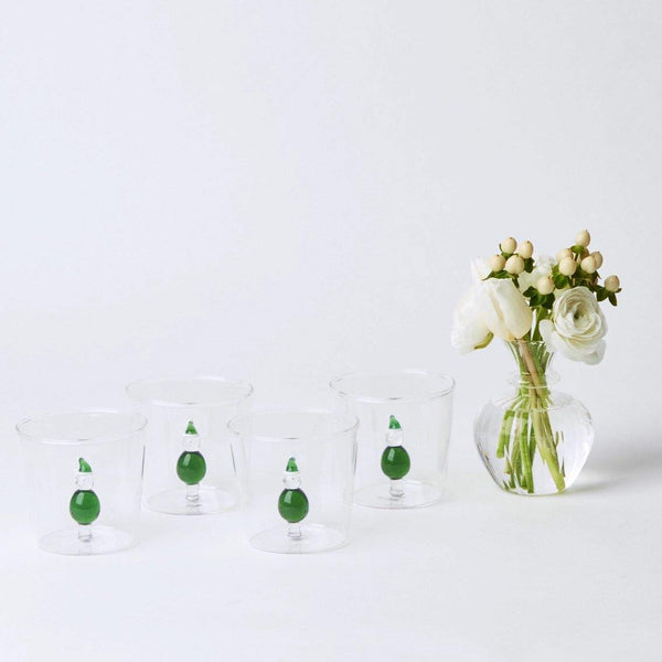 Father Christmas Water Glasses (Set of 4)