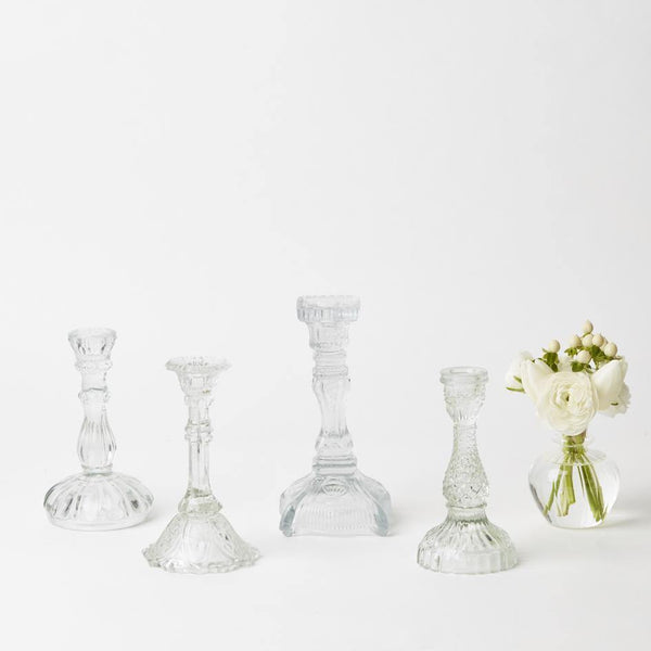 Glass Candlesticks Assorted (Set of 4)