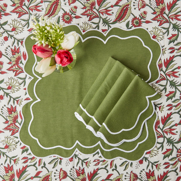 Nancy Olive Napkins (Set of 4)